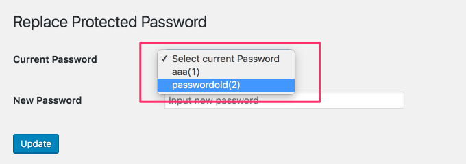 Replace Protected Password